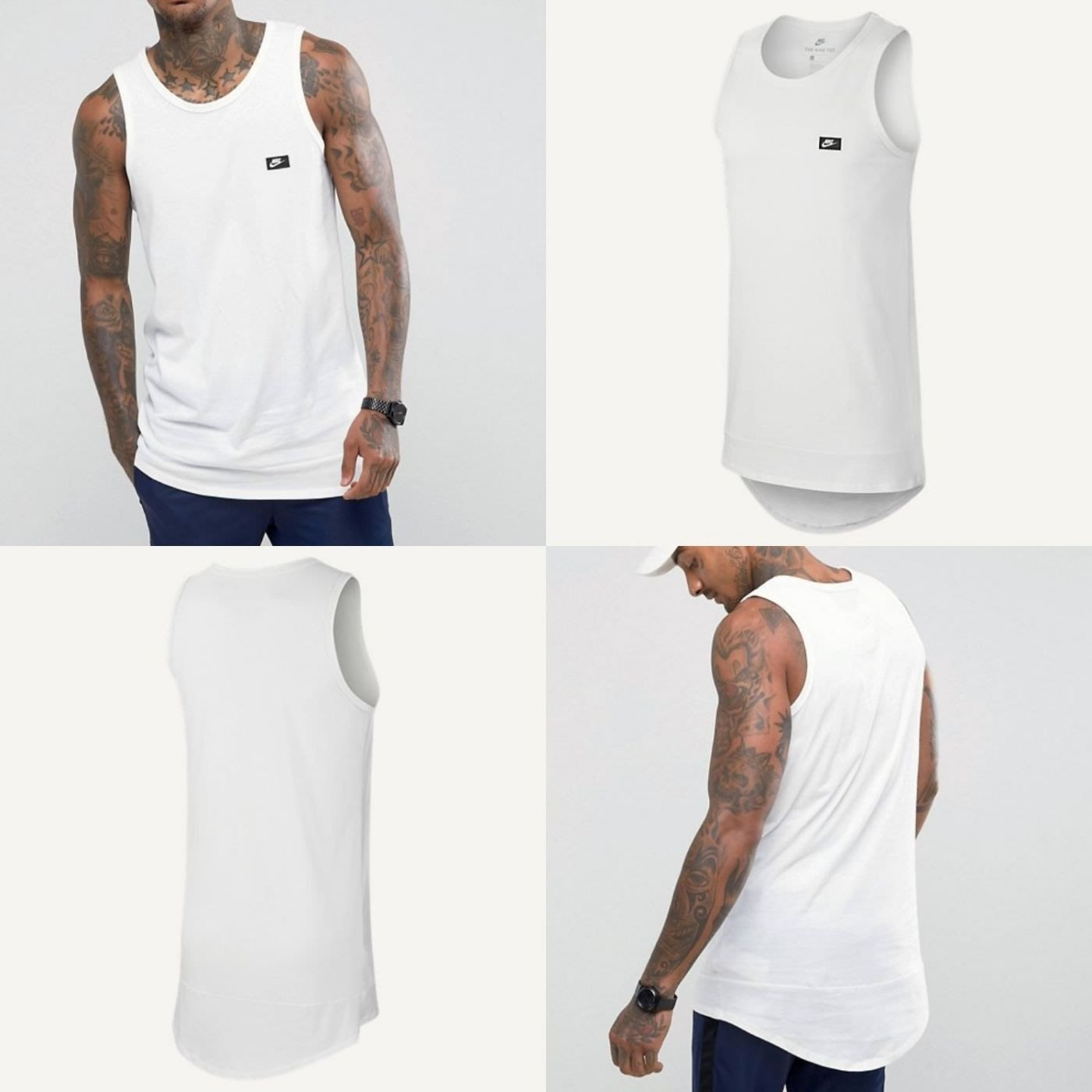 56ffc5907a27 Nike Modern Basic Vest 886030-100 長版背心純棉國外熱賣款保證全新正品 ...