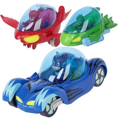 【預購】蒙面睡衣小英雄玩具貓小子豪華版貓車貓頭鷹女鷹翔機飛壁俠機動車