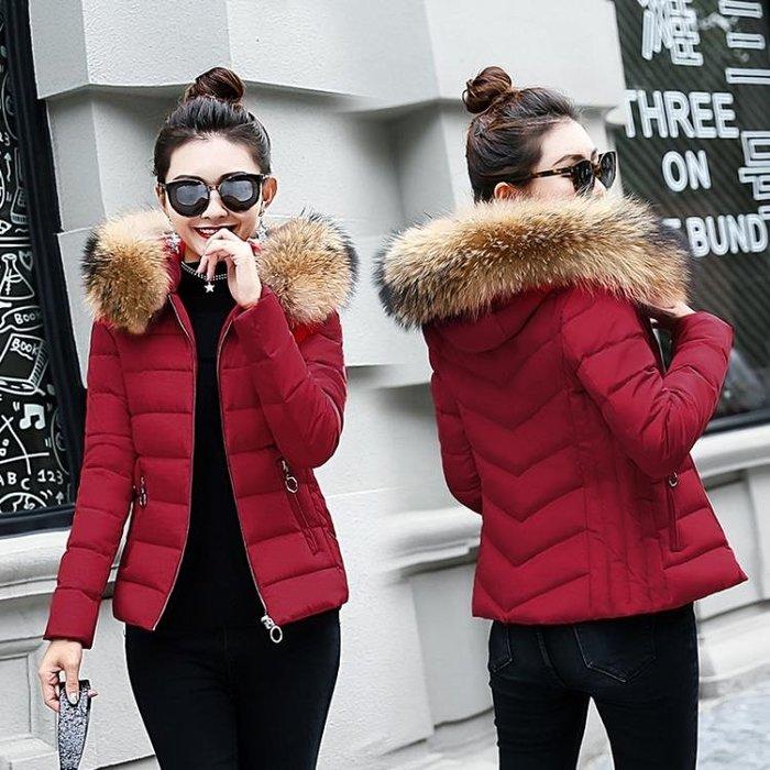 冬裝棉衣女2018新款韓版學生百搭小棉襖短款羽絨棉服厚外套大毛領