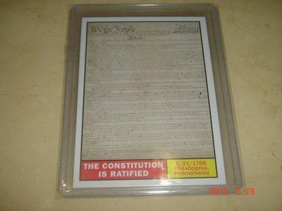 美國職棒 The Constitution is Ratified  2009 Topps Heritage 球員卡