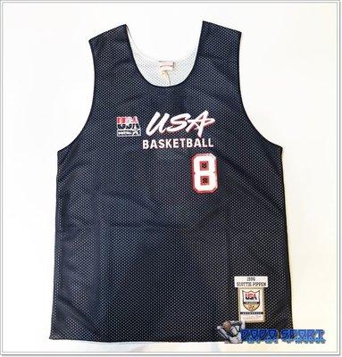 ╭*dodo_sport*╯1996 Dream Team USA 雙面練習球衣 Scottie Pippen 深藍白