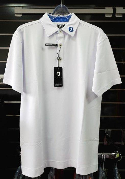 (易達高爾夫) 全新原廠FOOTJOY 20909 白色 男短袖上衣