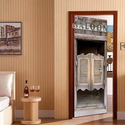 暖暖本舖 咖啡工業風貼 創意裝飾貼 房間門貼 書櫃壁貼紙 大門造景貼 防水門貼  裝潢貼紙 玄關貼 風景貼 可訂製尺寸
