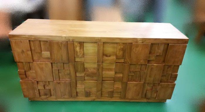 樂居二手家具 全新中古傢俱賣場 TK-A0AH *原木 柚木造型收納櫃 實木2門3抽餐櫃* 斗櫃 衣櫃 高低櫃