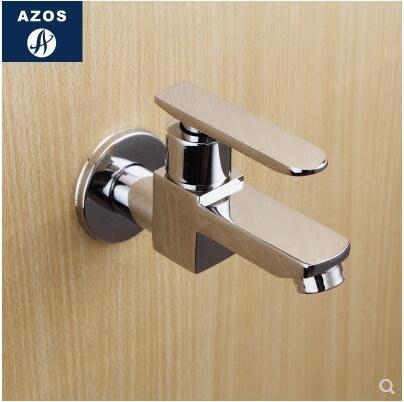 【優上】衛生間拖把池水龍頭入牆單冷衛浴小龍頭全銅快開閥芯4分水嘴防濺