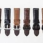 牛皮磨砂紋路錶帶 厚款真皮手錶帶 黑扣 26MM 黑 FA-37297