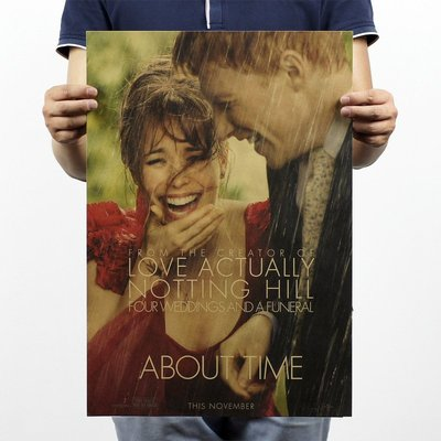 【貼貼屋】(超清版)真愛每一天 About time 牛皮紙 海報 壁貼 電影海報 懷舊復古 經典 523