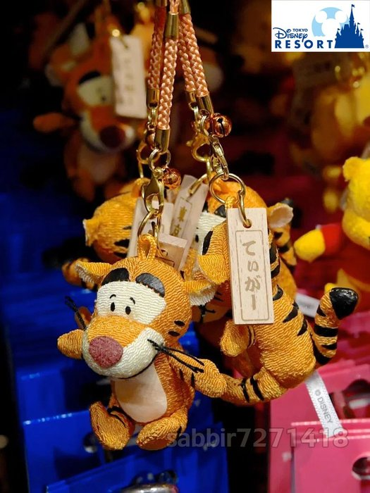 JP購✿樂園限定祈福根付吊飾 和風 跳跳虎 日本東京迪士尼樂園 鈴鐺 吊飾 娃娃 玩偶 掛飾 401350097557