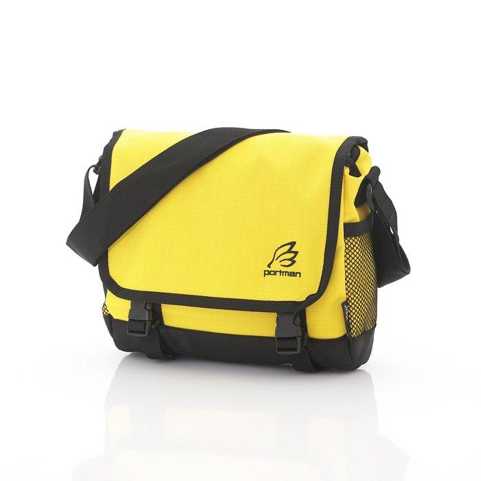 ◎BagTown◎繽紛新品免運上市【PORTMAN】旗艦系列炫彩小郵差包(晶黃色) PM132106