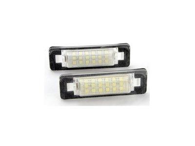 0320卡嗶車燈 Benz 賓士 E-CLASS W210 1995-2002 四門車 LED 牌照燈 白