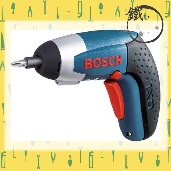 缺貨*小鐵五金*德國BOSCH IXO 3 充電式電動起子機 3.6V電鑽*