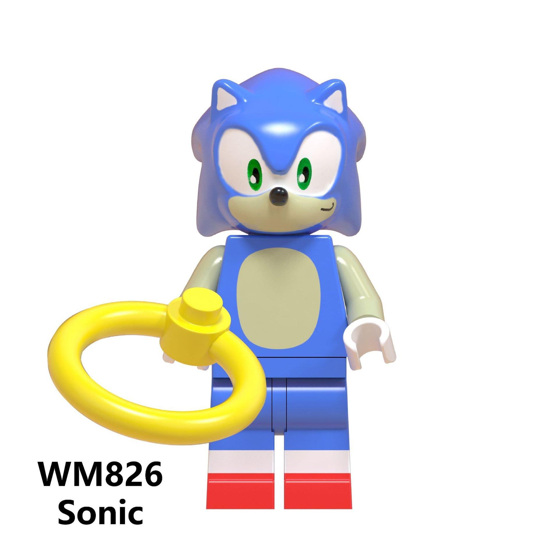 【積木班長】 WM826 音速小子 索尼克 SONIC 電玩 電影 人偶 袋裝/相容 樂高 LEGO 積木