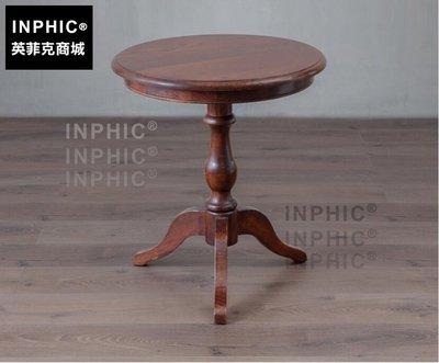 INPHIC-歐式鄉村風仿古做舊小圓桌 美法式電話台圓形茶几角几-C款_S1910C