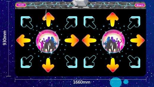 免運 同行最低價 2018最新款星空版 雙人無線跳舞機 瘦身遊戲機 送無線手柄 可自行灌音樂 百種遊戲 瑜珈墊 跳舞毯