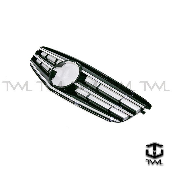 《※台灣之光※》全新賓士 benz  W204跑車樣式 Avantgarde C300大星黑色水箱罩 附大星 台灣製