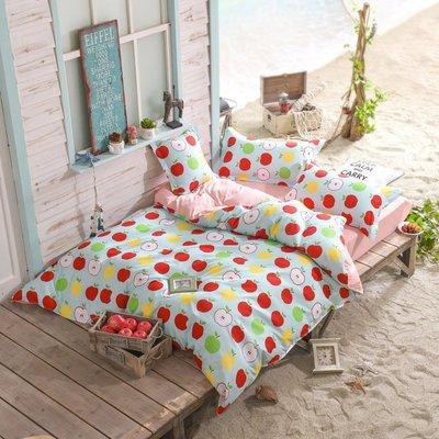 凌晨商社 // 可訂製 可拆賣 普普 小蘋果 卡通 兒童房間 枕套 被套  標準雙人床包4件套下標區