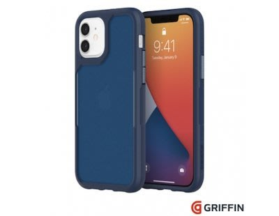 軍規抗菌霧透防摔殼 Griffin Survivor Endurance iPhone 12 Pro 6.1吋 海軍藍