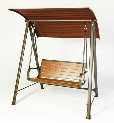 【南洋風休閒傢俱】戶外休閒桌椅系列 - 塑木雙人鞦韆 秋千 戶外休閒搖椅 #264