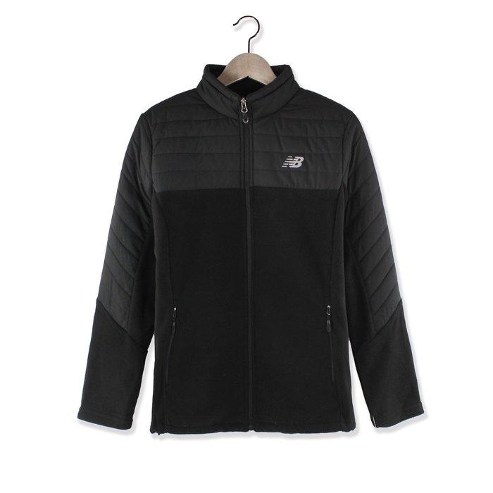 美國百分百【全新真品】New Balance 運動 立領 刷毛 外套 保暖 輕量 夾克 女 XL號 黑色 H579