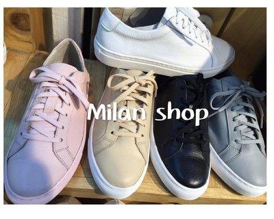 ☆Milan Shop☆網路最低價 韓國帶回Korea早秋款 超好穿百搭綁帶真皮懶人休閒鞋 5色$1250(免運)