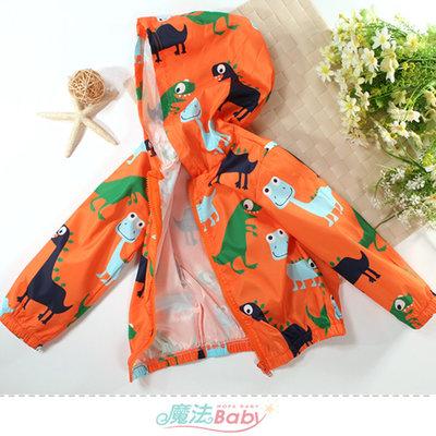 男女童裝 單層連帽防水防風外套 魔法Baby k61189