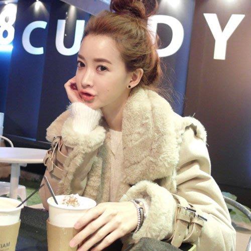 羊毛外套 超保暖立領翻領時尚加厚麂皮絨羊羔毛外套 艾爾莎【TAK2353】
