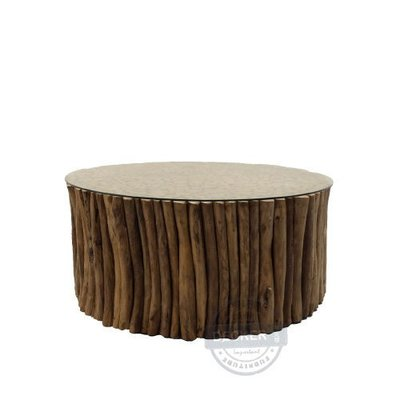 【Decker • 德克爾家飾】Vintage復古實木 印尼柚木家具 原生態森林 盤古茶几 - B款