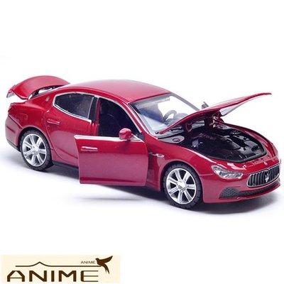 ∞Anime∞1:32 正版 瑪莎拉蒂Ghibli合金汽車模型聲光合金回力玩具車模兒童