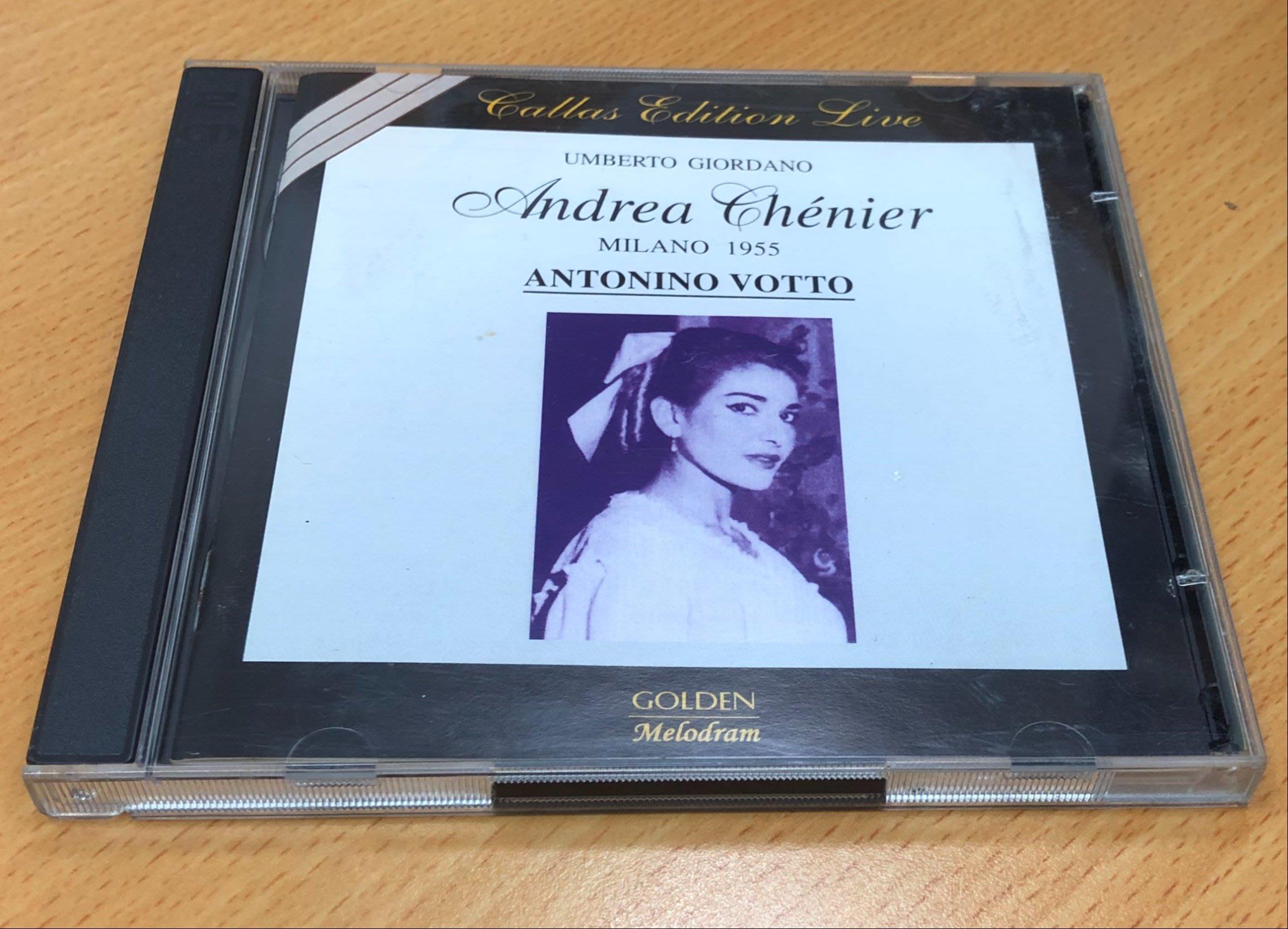 絕版二手CD GIORDANO ANDREA CHENIER MONACO CALLAS PROTTI 2CD