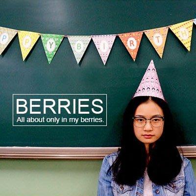 旗幟 生日快樂 OOHLALA 韓國文具 DIY手作 PARTY用品 Berries【OH018】