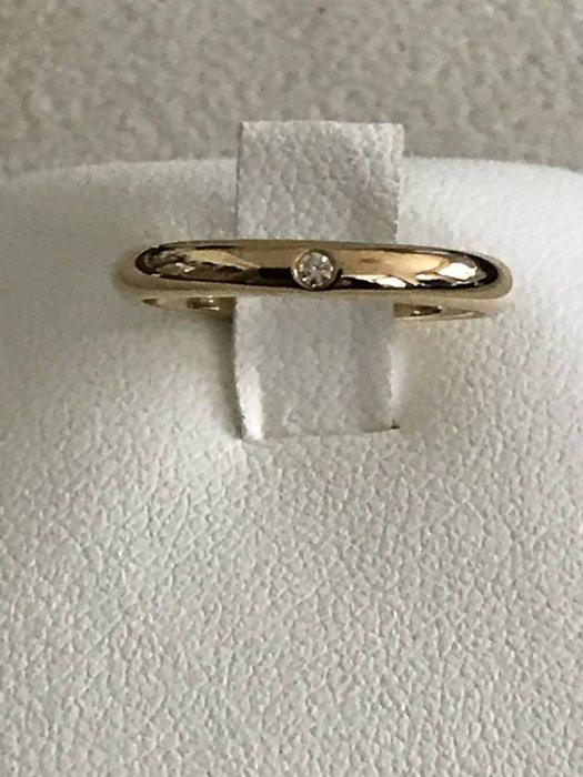 *超低價起標~知名品牌Cartier卡地亞-1895經典款單顆鑽 18K玫瑰金鑽戒(750) 歐洲圍49號~保證真貨