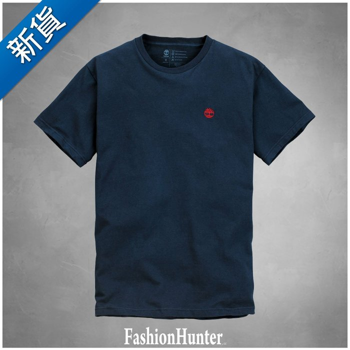 新貨【FH.cc】Timberland 素t T恤 海軍藍 刺繡小樹 踢不爛 天伯倫 另有 Tommy Polo A&F