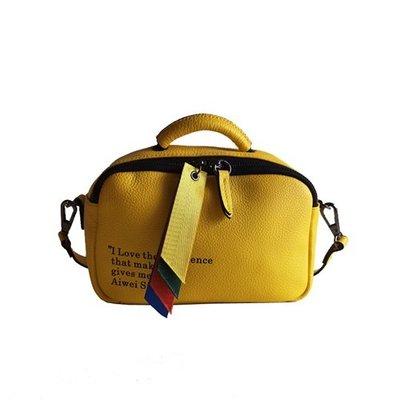 側背包 真皮 手提包-彩色拉頭字母牛皮女包包4色73yj23[獨家進口][米蘭精品]