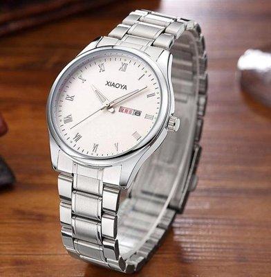 男士手錶  手錶男士非機械潮流時尚防水夜光精鋼帶石英男錶  新品