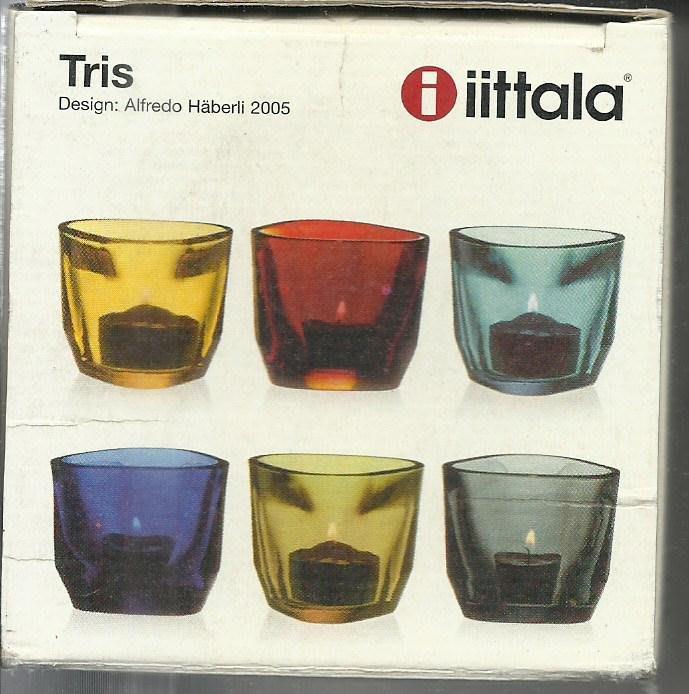 芬蘭國寶品牌 iittala Tris系列燭台杯_灰色_全新品