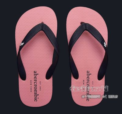 ☆✿fashionodd ☆ξ 【Abercrombie】a&f  classic spring flip flops  夾腳拖 海灘拖鞋【現貨】Kids L
