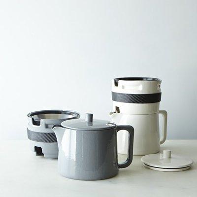 【Sunny Buy 生活館】Able Brewing 美國製 手沖咖啡 陶瓷咖啡壺(灰/白色) 下午茶 品味
