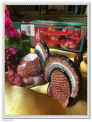 火雞燭台一對.感恩節.餐桌裝飾