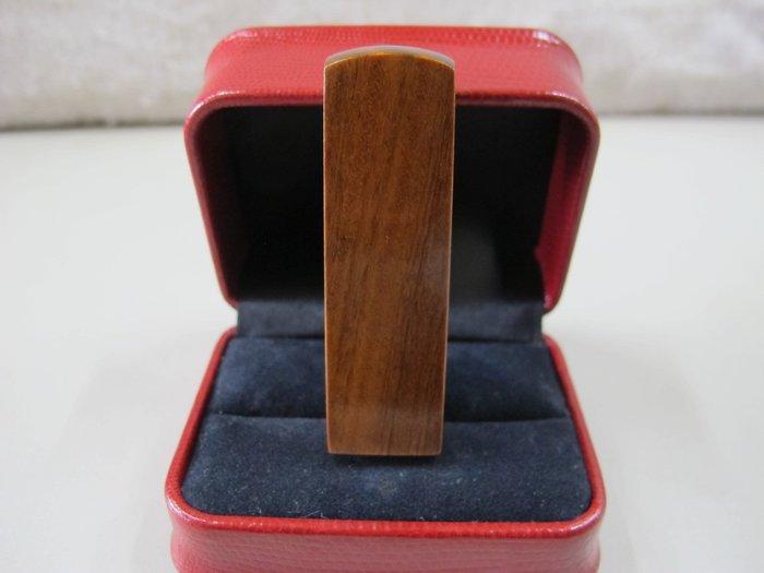 二手舖 NO.267 天然頂級綠檀木 開運印章 印材 香味濃郁 木紋清晰