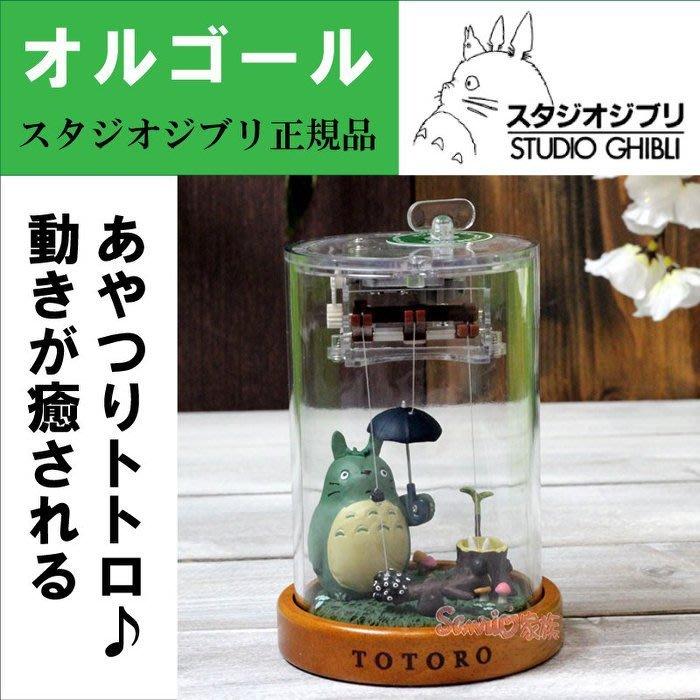 《東京家族》日本進口 宮崎駿 龍貓  撐傘 totoro 透明 發條 音樂鈴 音樂盒 擺飾
