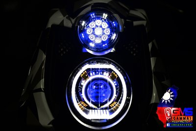 GAMMAS HID 台中廠 三葉YAMAHA BWS'X 大B 鐵男-9晶LED滿天星 光圈   鋼鐵人 小燈04