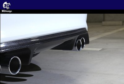 【樂駒】3D Design BMW M2 F87 Competition Carbon Type 1 碳纖維 後下巴