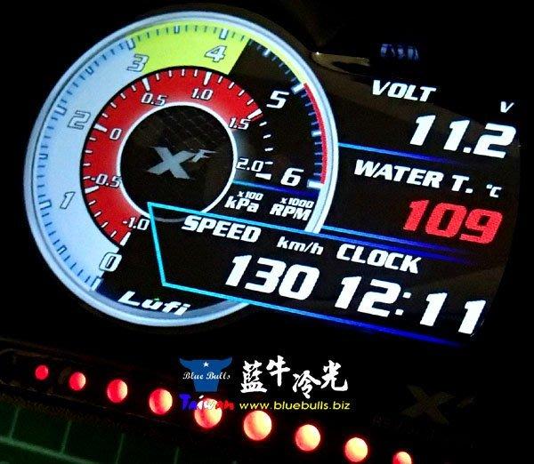【藍牛冷光】Lufi XF OBD 全液晶 多功能 行車電腦 賽車錶 水溫表 電壓表 渦輪錶 油溫 排溫 永久免費升級