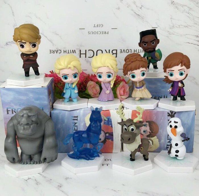 《瘋狂大賣客》Disney 迪士尼 冰雪奇緣 艾莎 Elsa 安娜 Anna 阿克 雪寶 漢斯 盲盒 盒玩 蛋糕 音樂 奇幻 喜劇 卡通 動漫 公仔 擺件