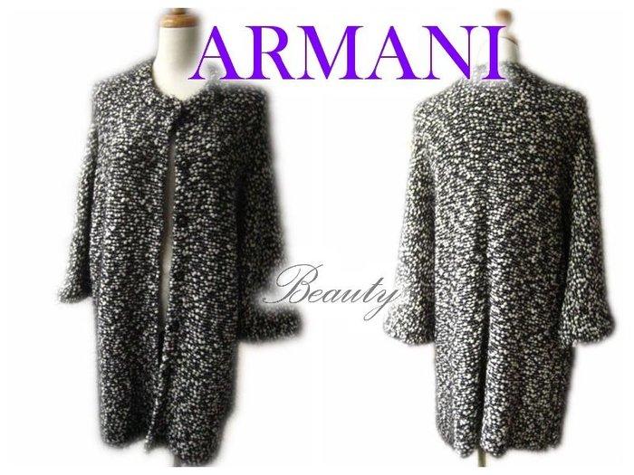 *Beauty*ARMANI時尚寬版針織長罩衫  WE15