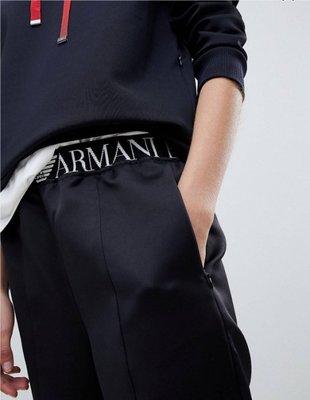 換季破盤價出清 Emporio Armani亞曼尼  百搭 logo徽標  慢跑褲 休閒褲  專櫃賣一萬多