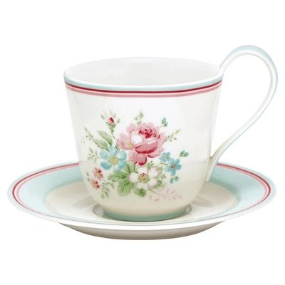 GreenGate Cup & Saucer - Marie White