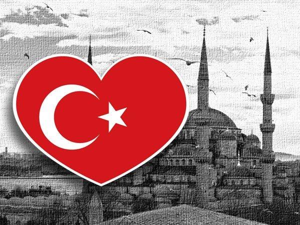 【國旗貼紙專賣店】土耳其愛心形旅行箱貼紙/抗UV防水/Turkey/多國款可收集和客製