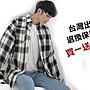 ♂WangMan_25♂格子襯衫男長袖韓版 寬鬆潮青...