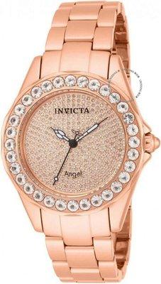 展示品 Invicta 14527 Rose Angel Blush 338 Diamond Pave Morganite Accented Wome